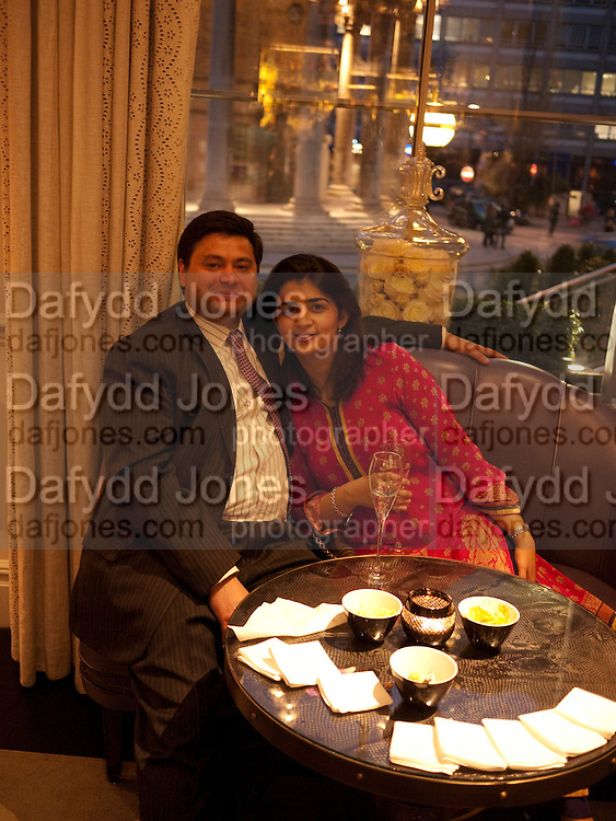 TANIYA KHAN, Henry Porter hosts a launch for Songs of Blood and Sword by Fatima Bhutto. The Artesian at the Langham London. Portland Place. 15 April 2010. *** Local Caption *** -DO NOT ARCHIVE-© Copyright Photograph by Dafydd Jones. 248 Clapham Rd. London SW9 0PZ. Tel 0207 820 0771. www.dafjones.com.<br /> TANIYA KHAN, Henry Porter hosts a launch for Songs of Blood and Sword by Fatima Bhutto. The Artesian at the Langham London. Portland Place. 15 April 2010.