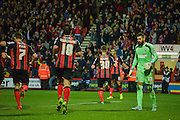 Matt Ritchie celebrates during the Sky Bet Championship match between Bournemouth and Ipswich Town at the Goldsands Stadium, Bournemouth, England on 22 November 2014.