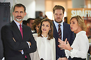 121216 Spanish Royals visit the headquarters of Grupo Zeta