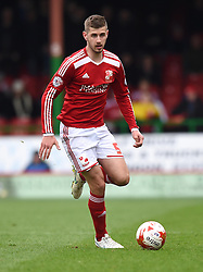 Swindon Town's Jack Stephens in action during the Sky Bet League One match between Swindon Town and Milton Keynes Dons at The County Ground on 4 April 2015 in Swindon, England - Photo mandatory by-line: Paul Knight/JMP - Mobile: 07966 386802 - 04/04/2015 - SPORT - Football - Swindon - The County Ground - Swindon Town v Milton Keynes Dons - Sky Bet League One