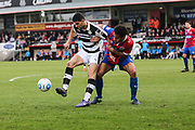 Forest Green Rovers Omar Bugiel(11) holds the ball up during the Vanarama National League match between Dagenham and Redbridge and Forest Green Rovers at the London Borough of Barking and Dagenham Stadium, London, England on 11 March 2017. Photo by Shane Healey.