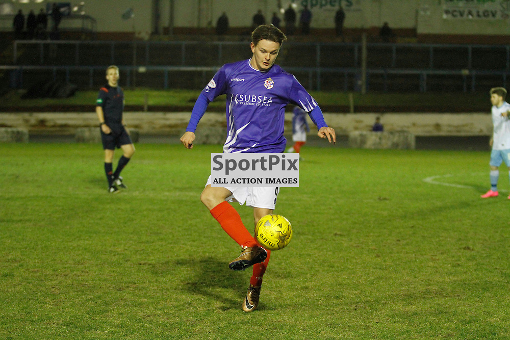 Cowdenbeath FC v Forfar FC, Scottish League 1, Tuesday 23 February 2016. Jillian McFarlane | sportPix.org.ukCOWDENBEATH #8 JACK BEAUMONT<br /> <br /> Cowdenbeath FC v Forfar FC, Scottish League 1, Tuesday 23 February 2016. Jillian McFarlane | sportPix.org.uk