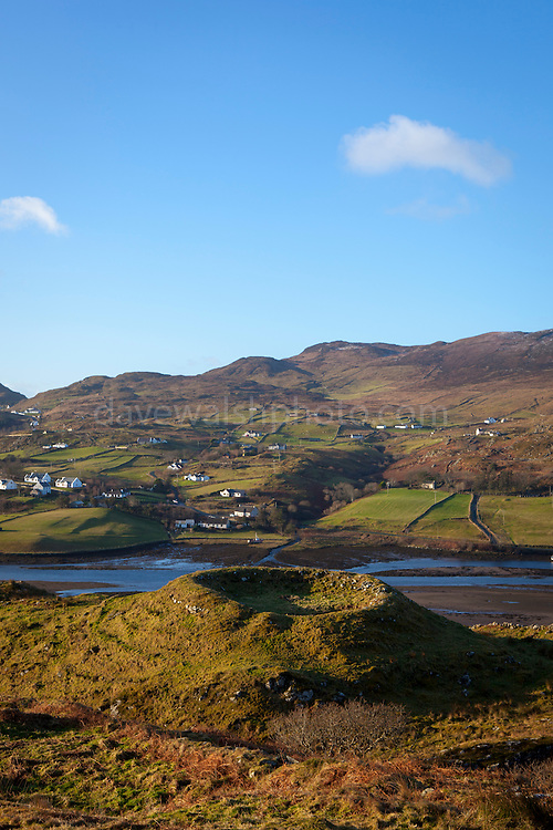 Ringfort overlooking Teelin Bay, near Carrick, Donegal, Ireland