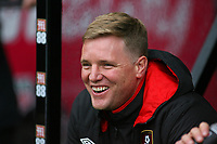 Football - 2017 / 2018 Premier League - AFC Bournemouth vs. Tottenham Hotspur<br /> <br /> A smiling Bournemouth's Manager Eddie Howe before kick off at Dean Court (Vitality Stadium) Bournemouth <br /> <br /> COLORSPORT/SHAUN BOGGUST