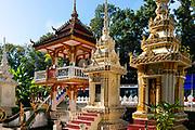 Small stuppas,  Vientiane, Laos.