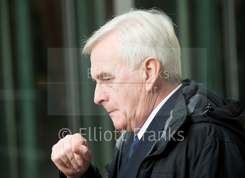 Andrew Marr Show <br /> departures<br /> BBC, Broadcasting House, london, Great Britain <br /> 5th March 2017 <br /> <br /> <br /> John McDonnell MP<br /> Shadow Chancellor <br /> <br /> <br /> Photograph by Elliott Franks <br /> Image licensed to Elliott Franks Photography Services