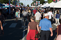 Sidney, BC on Vancouver Island has a vibrant summer evening night market where vendors sell farm fresh produce, arts and crafts.