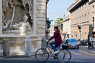 Roma 10 Marzo 2015<br /> Restaurato il complesso monumentale  delle Quattro Fontane<br /> Il Tevere, l'Arno, Giunone e Diana tornano a zampillare dopo nove mesi di lavori finanziati dalla maison Fendi  per un costo totale di 320.000 euro. La fontana Giunone<br /> Rome March 10, 2015<br /> Restored the monument of Quattro Fontane<br /> The Tiber, the Arno, Juno and Diana return to gush after nine months of work funded by the fashion house Fendi for a total cost of 320,000 Euros. The fountain Juno