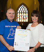 05/09/2016 REPRO FREE:  World Suicide Prevention Day - Pieta House fundraiser: Concert of Hope St. Nicholas&rsquo; Collegiate Church, Galway &ndash; Saturday 10th September at 8pm<br /> <br /> PIC: Choral Director Ronan DeBurca and Donna Burke Pieta House at the launch.<br /> <br /> On Saturday 10th September, all are invited to a &lsquo;Concert of Hope&rsquo; in St. Nicholas&rsquo; Collegiate Church in Galway.<br /> The concert has been organised by local choirs, including Medtronic Chorale, Moycullen Enchants, The Baytones and Limorahaun Singers to support the work of Pieta House. Special guest singer Diarmuid Sutton will lead a special Finale performance.<br /> <br /> Medtronic Chorale, under the direction of Ronan DeBurca, is the anchor choir for the event.  Medtronic employees at Parkmore selected Pieta House West as their &lsquo;Charity of the Year&rsquo; and, aligned with their mission, supports the charity in promoting suicide awareness and prevention as well as fundraising. <br /> <br /> &ldquo;We are truly grateful to everyone who comes up with initiatives to highlight the work that we&rsquo;re doing at Pieta House, to get the message out to anyone in need that our services are here,&rdquo; said Pieta House CEO Brian Higgins, who is due to arrive in Galway on Tuesday September 6 on his `Pieta Grand Tour&rsquo; rickshaw road-trip across Ireland.<br /> <br /> &ldquo;Thanks to everyone behind the Concert of Hope &ndash; and our supporters and fundraisers across Connacht and Ireland &ndash; we are able to keep our services free and are so happy to say that 25,000 people have accessed our services for free since the day we opened a decade ago.&rdquo;<br /> <br /> Pieta House was established in Lucan, Co Dublin, 2006 and celebrates its 10-year anniversary this year. It provides a free, therapeutic approach to people who are in suicidal distress and those who engage in self-harm.  Pieta now has 18 centres across Ireland, including eight suicide bereavement centre