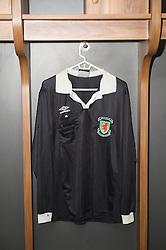 NEWPORT, WALES - Saturday, April 20, 2013: A Wales referee shirt in the dressing room at the opening of the FAW National Development Centre in Newport. (Pic by David Rawcliffe/Propaganda)