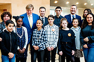 AMSTERDAM - king  Willem- Alexander will be present on Thursday afternoon 24 January 2019 at the final meeting of JINC Baas van Morgen at the head office of ABN AMRO in Amsterdam. Over two hundred young people who grow up in an environment with a socioeconomic disadvantage take over the job of Dutch directors and politicians for one day.  robimn utrecht