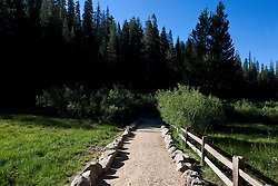Hiking trail to Devils Postpile National Monument, California, United States of America