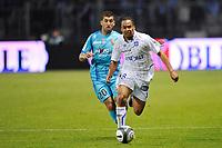 FOOTBALL - FRENCH CHAMPIONSHIP 2009/2010 - L1 - AJ AUXERRE v RC LENS - 8/05/2010 - PHOTO GUY JEFFROY / DPPI - ROY  CONTOUT (AUX) / ADIL HERMACH (LENS)