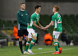 Callum O'Dowda enters the pitch replacing Stephen Quinn - Mandatory by-line: Ken Sutton/JMP - 31/08/2016 - FOOTBALL - Aviva Stadium - Dublin,  - Republic of Ireland v Oman -