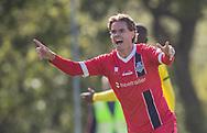 Thomas Kristensen (FC Helsingør) skælder ud da hans scoring annulleres under kampen i 2. Division mellem Brønshøj Boldklub og FC Helsingør den 14. september 2019 i Tingbjerg Idrætspark (Foto: Claus Birch)