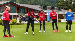 01.08.2016, Golfclub, Zell am See, AUT, Bayer 04 Leverkusen, Trainingslager, im Bild Kevin Kampl (Bayer 04 Leverkusen), Karim Bellarabi (Bayer 04 Leverkusen), Hakan Calhanoglu (Bayer 04 Leverkusen), Kyriakos Papadopoulos (Bayer 04 Leverkusen) beim Golfspielen // during the Trainingscamp of German Bundesliga Club Bayer 04 Leverkusen at the Golf Club in Zell am See, Austria on 2016/08/01. EXPA Pictures © 2016, PhotoCredit: EXPA/ JFK