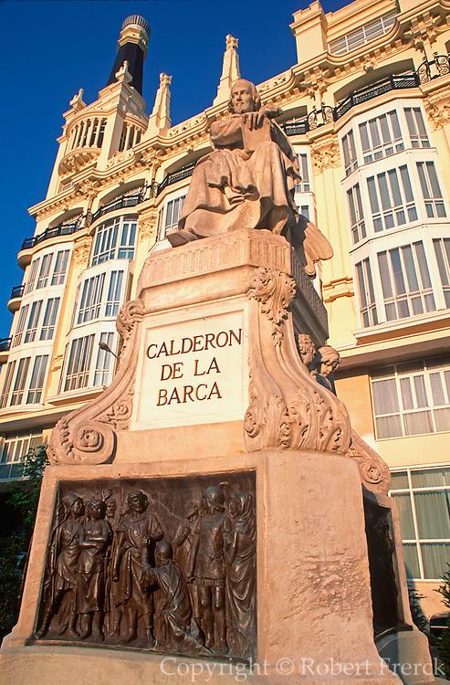 SPAIN, MADRID Hotel Gran Reina Victoria exterior, facing Plaza Santa Ana