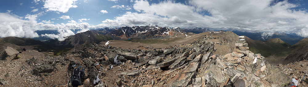 360 degree panorama of Indian Ridge, Jasper National Park