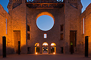 Interior of old st. Boniface Cathedral at dusk. Winnipeg, Manitoba