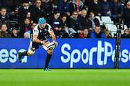 Justin Tipuric of Ospreys in action during todays match<br /> <br /> Photographer Craig Thomas/Replay Images<br /> <br /> Guinness PRO14 Round 4 - Ospreys v Benetton Treviso - Saturday 22nd September 2018 - Liberty Stadium - Swansea<br /> <br /> World Copyright &copy; Replay Images . All rights reserved. info@replayimages.co.uk - http://replayimages.co.uk