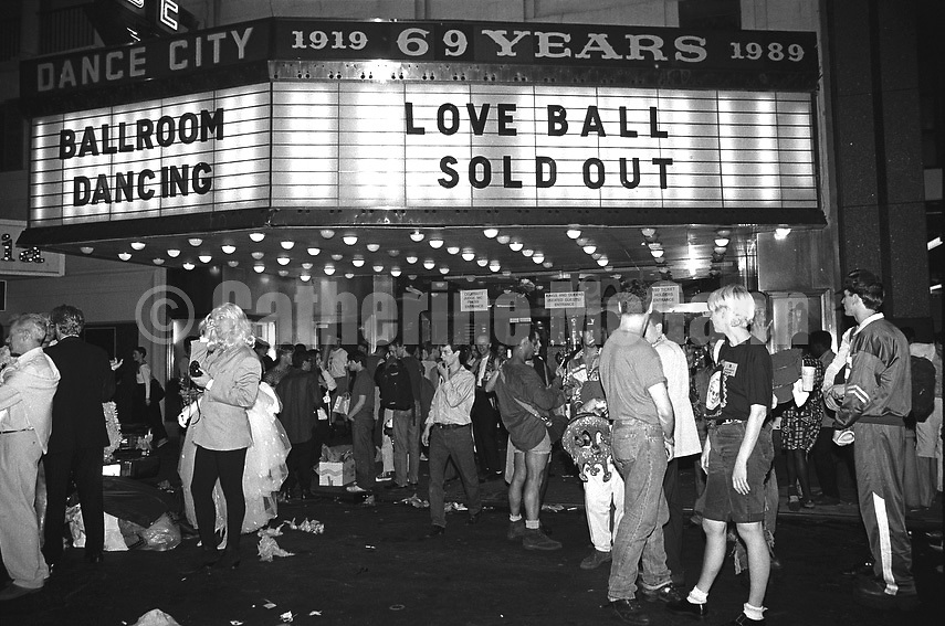 May 22, 1991:  The Marquee at the Love Ball proclaims Sold Out on May 22, 1991 in New York City, New York.