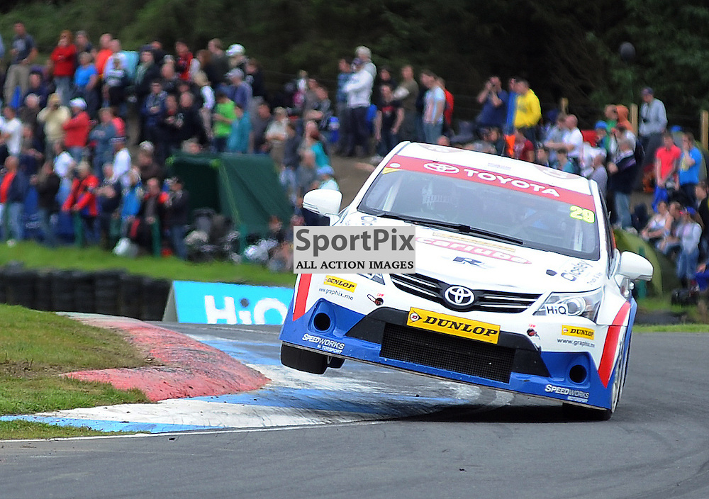 British Touring Car Championship, Knockhill, 26 August 2012..Paul O'Neal takes to the kerb..(c) David Wardle | StockPix.eu