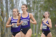 Lilli Burdon of the Washington Huskies (1268) leads Allie Schadler (1277) and Hannah Waskom (1279) in the women's 3 mile race at the UW/Seattle University Open at Warren G. Magsuson Park., Friday, Aug. 30, 2019, in Seattle. (Paul Merca/Image of Sport)