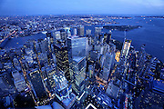 New York, 2015. Manhattan vista dal One World Observatory