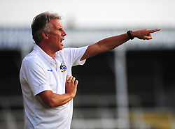 Bristol Rovers Manger, John Ward shouts instructions at his team - Photo mandatory by-line: Dougie Allward/JMP - Tel: Mobile: 07966 386802 16/07/2013 - SPORT - FOOTBALL - Bristol -  Hereford United V Bristol Rovers - Pre Season Friendly