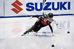 February 8, 2019 - Torino, Italia - Foto LaPresse/Nicolò Campo .8/02/2019 Torino (Italia) .Sport.ISU World Cup Short Track Torino - 500 meter Ladies Preliminaries.Nella foto: Xiran Wang, Kim Ye Jin..Photo LaPresse/Nicolò Campo .February 8, 2019 Turin (Italy) .Sport.ISU World Cup Short Track Turin - 500 meter Ladies Preliminaries.In the picture: Xiran Wang, Kim Ye Jin (Credit Image: © Nicolò Campo/Lapresse via ZUMA Press)