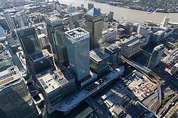 © Licensed to London News Pictures. 26/04/2016. London, UK. Newly constructed Crossrail station at North Dock, Canary Wharf, London. Photo credit: Martin Apps/LNP
