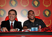 20090507: RIO DE JANEIRO, BRAZIL - Former football player from Internazionale Milan Adriano returns to his dream team Flamengo 8 years later. The player confessed he wants to play again at  Brazil National Team.<br /> PHOTO: CITYFILES
