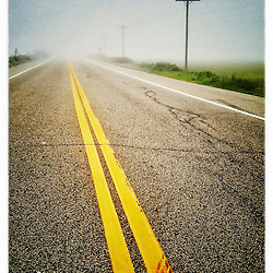 """Foggy morning on Route 1A in Rye, New Hampshire. iPhone photo - suitable for print reproduction up to 8"""" x 12""""."""