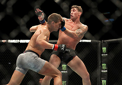 Stephen Thompson (left) in action against Darren Till during UFC Fight Night at the Liverpool Echo Arena.