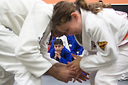 AJ Khatemi during a jiu-jitsu lesson at US Blackbelt Academy on Thursday, March 26, 2015 in Laguna Niguel, Calif. (Photo/Josh Barber)