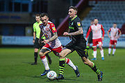 Forest Green Rovers Carl Winchester(7) runs forward during the EFL Sky Bet League 2 match between Stevenage and Forest Green Rovers at the Lamex Stadium, Stevenage, England on 26 December 2019.