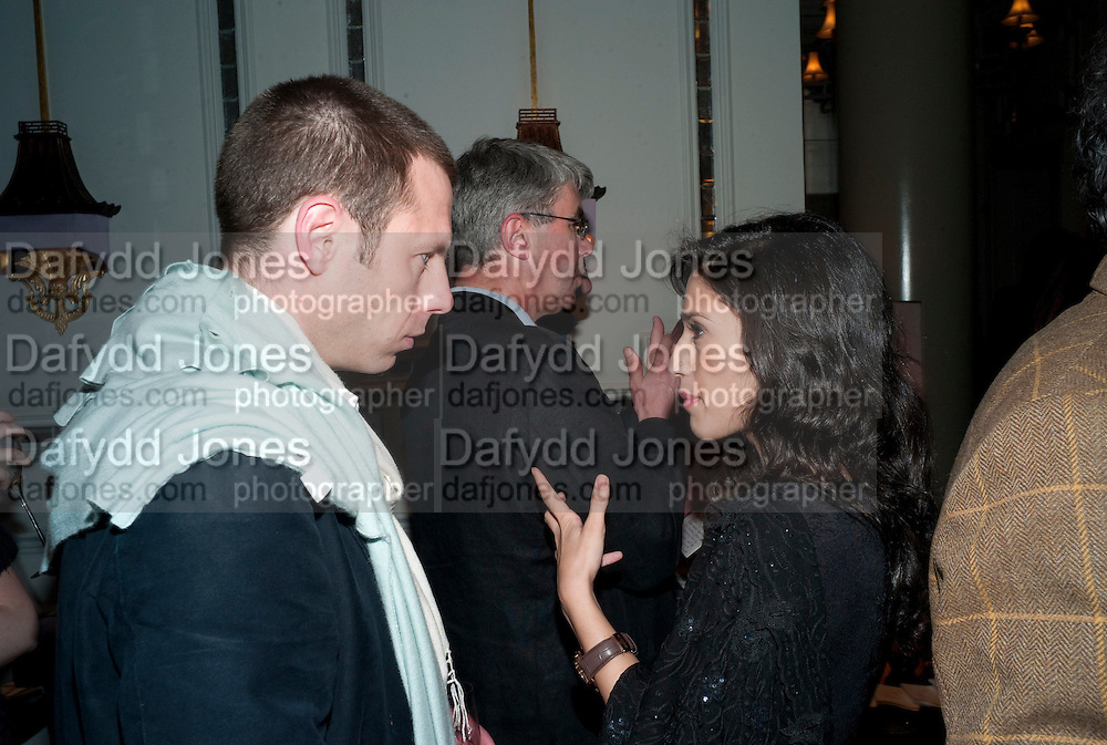 TURI MUNTHE; FATIMA BHUTTO, Henry Porter hosts a launch for Songs of Blood and Sword by Fatima Bhutto. The Artesian at the Langham London. Portland Place. 15 April 2010. *** Local Caption *** -DO NOT ARCHIVE-© Copyright Photograph by Dafydd Jones. 248 Clapham Rd. London SW9 0PZ. Tel 0207 820 0771. www.dafjones.com.<br /> TURI MUNTHE; FATIMA BHUTTO, Henry Porter hosts a launch for Songs of Blood and Sword by Fatima Bhutto. The Artesian at the Langham London. Portland Place. 15 April 2010.