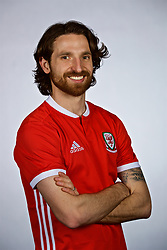 NANNING, CHINA - Saturday, March 24, 2018: Wales' Joe Allen during a squad photo shoot at the Wanda Realm Hotel on day five of the 2018 Gree China Cup International Football Championship. (Pic by David Rawcliffe/Propaganda)