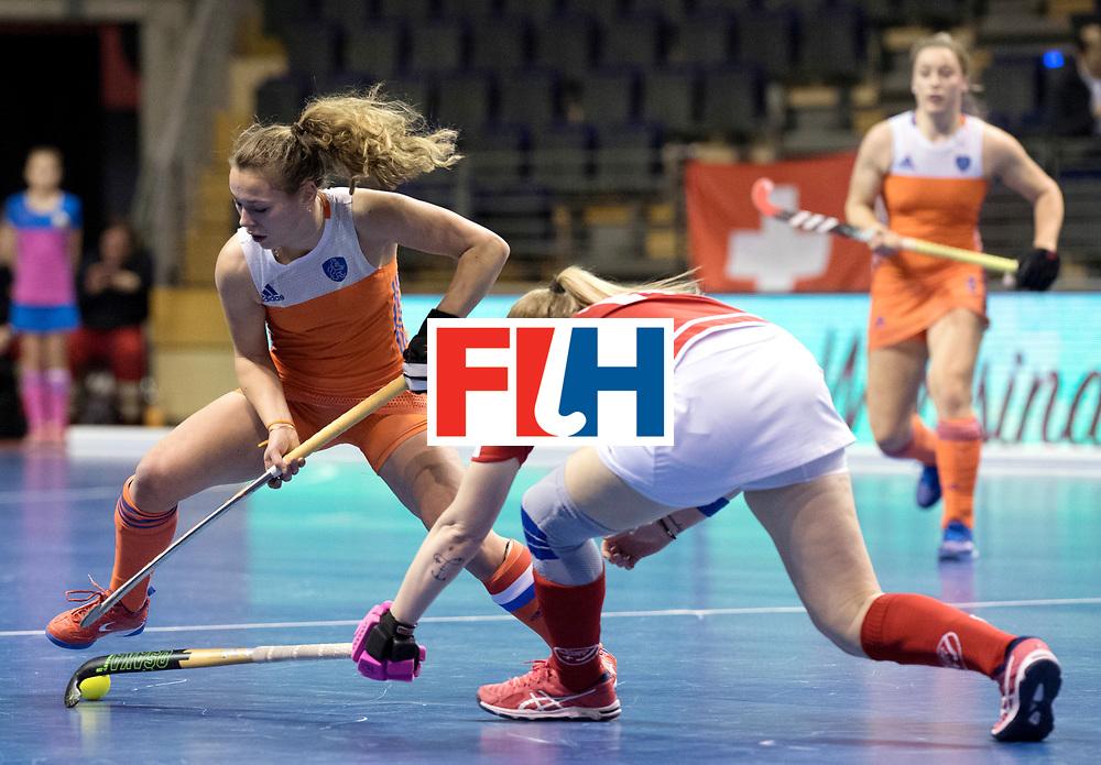 BERLIN - Indoor Hockey World Cup<br /> Women: Netherlands - Switzerland<br /> foto: MUYSELAAR Mila (C)<br /> WORLDSPORTPICS COPYRIGHT FRANK UIJLENBROEK