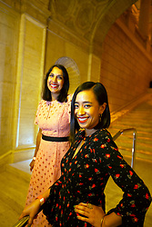 """Director Suzi Yoonessi, left, and actor Charlene deGuzman, the star of """"Unlovable,"""" pose for a photograph at the Gala for the CAAM Film Festival, at the Asian Art Museum, Thursday, May 10, 2018 in San Francisco, Calif. (D. Ross Cameron/SF Chronicle)"""