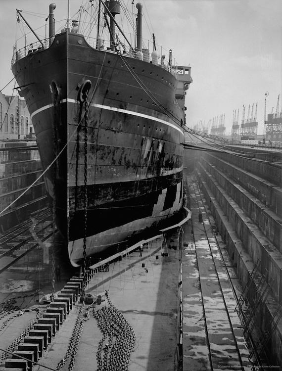 Merchant Ships, The Royal Docks, London, 1934
