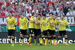 25.03.2012, Rhein Energie Stadion, Koeln, GER, 1. FBL, 1.FC Koeln vs Borussia Dortmund, 27. Spieltag, im Bild Jubel Borussia Dortmund nach dem 1-1 durch Lukasz PISZCZEK (BVB Borussia Dortmund #26) // during the German Bundesliga Match, 27th Round between 1.FC Koeln and Borussia Dortmund at the Rhein Energie Stadion, Koeln, Germany on 2012/03/25. EXPA Pictures © 2012, PhotoCredit: EXPA/ Eibner/ Gerry Schmit..***** ATTENTION - OUT OF GER *****