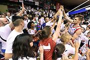 DESCRIZIONE : Reggio Emilia Lega A 2014-15 Grissin Bon Reggio Emilia - Banco di Sardegna Dinamo Sassari playoff Finale gara 5 <br /> GIOCATORE : Ojars Silins<br /> CATEGORIA : esultanza postgame<br /> SQUADRA : Grissin Bon Reggio Emilia<br /> EVENTO : LegaBasket Serie A Beko 2014/2015<br /> GARA : Grissin Bon Reggio Emilia - Banco di Sardegna Dinamo Sassari playoff Finale gara 5<br /> DATA : 22/06/2015 <br /> SPORT : Pallacanestro <br /> AUTORE : Agenzia Ciamillo-Castoria/GiulioCiamillo<br /> Galleria : Lega Basket A 2014-2015 Fotonotizia : Reggio Emilia Lega A 2014-15 Grissin Bon Reggio Emilia - Banco di Sardegna Dinamo Sassari playoff Finale  gara 5<br /> Predefinita :