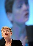 © Licensed to London News Pictures. 29/09/2011. LONDON, UK. Yvette Cooper  MP Shadow Home Secretary delivers a speech at The Labour Party Conference in Liverpool today (29/09/11). Photo credit:  Stephen Simpson/LNP