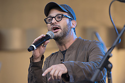 October 23, 2016 - Los Angeles, California, United States - Film director and environmental activist, Josh Fox, speaks during Climate Revolution Rally in Los Angeles, California. October 23, 2016. (Credit Image: © Ronen Tivony/NurPhoto via ZUMA Press)