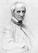 John Henry Newman (1801-1890) English theologian priest and poet. Leading figure in the Oxford Movement. Received into the Roman Catholic church in 1845. Created Cardinal 1879.  Author of 'The Dream of Gernontius'.