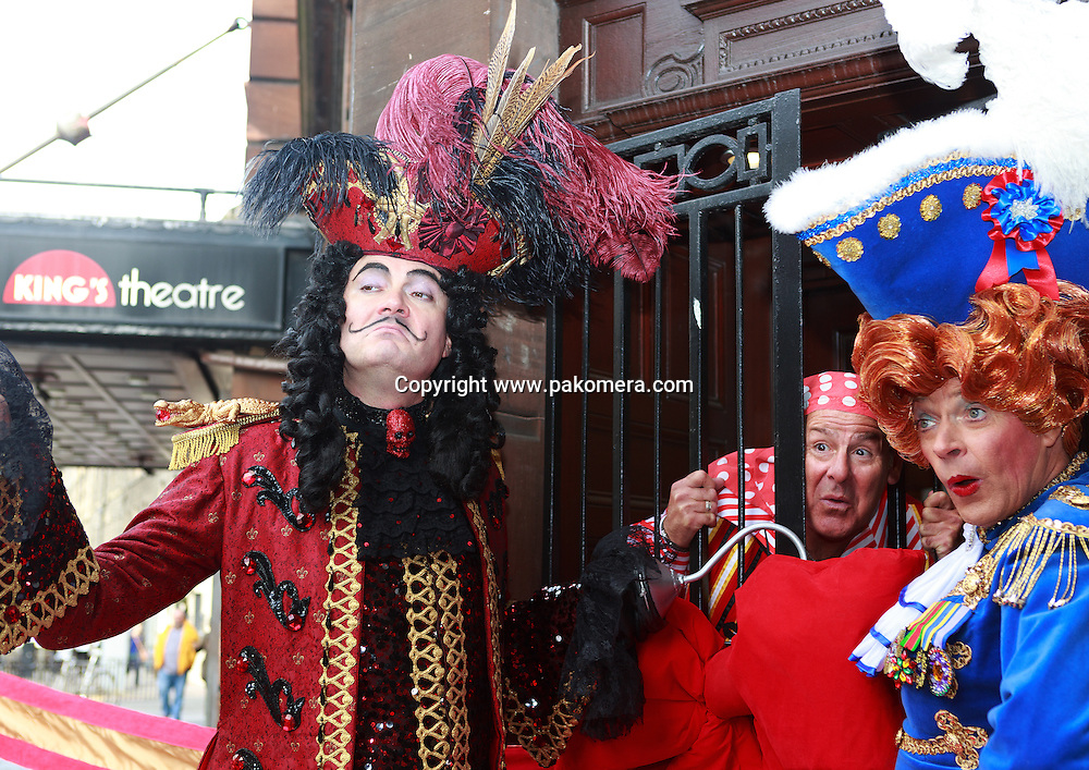 Edinburgh, UK. 17th September. King's Panto legends Allan Stewart, Andy Gray and Grant Stott launch Peter Pan and celebrate the reopening of the King's Theatre Box Office. Edinburgh.<br />