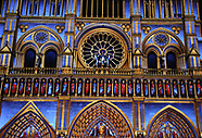 Notre Dame cathedral is illuminated during a light show - 10 Nov 2017