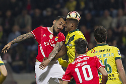 March 18, 2017 - Pacos De Ferreira, Pacos Ferreira, Portugal - Benfica's Greek forward Kostas Mitroglou (L) during the Premier League 2016/17 match between Pacos Ferreira and SL Benfica, at Mata Real Stadium in Pacos de Ferreira on March 18, 2017. (Credit Image: © Dpi/NurPhoto via ZUMA Press)