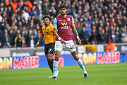 Tyrone Mings of Aston Villa during the Premier League match between Wolverhampton Wanderers and Aston Villa at Molineux, Wolverhampton, England on 10 November 2019.